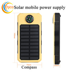 Wholesale mobile homes supplies - High quality Solar Charger and Battery Solar Panel Solar mobile power supply with Flashlight led light waterproof