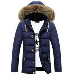 Wholesale vintage down parka - Wholesale- Jacket Men Winter Casual Warm Thicken Long Coat Mens Windbreaker Wear Parka Handsome Jackets New Brand Clothing