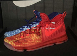 Wholesale Kds Shoes For Cheap - 2017 New KD9 What the KD 9 Fire & Ice Basketball Shoes Men Cheap Kds Kevin Durant 9 Sports Sneakers Size 40-46 for sale
