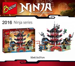 Wholesale Toy Castles For Children - Ninjia castle block toy set for children legos minifigure bricks temple ninjia toy retail 6+
