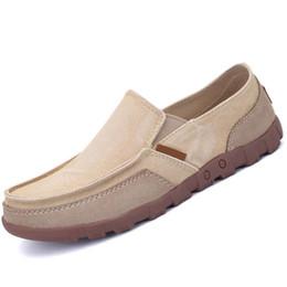 Wholesale Men Plimsolls - Summer Autumn Slip On Men Casual Shoes Canvas Breathable Gumshoe Men Shoes Fashion Leisure Plimsolls Male Footwear Flats