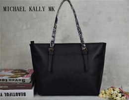 Wholesale Hot Brand Handbag - Hot sale Fashion women brand bags MICHAEL KALLY MK lady PU leather handbags famous Designer brand bags purse shoulder tote Bag female 6821