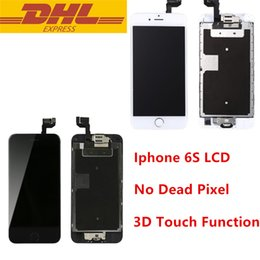 Wholesale Screens Ears - LCD Display For iPhone 6s 4.7inch Touch Screen Digitizer Assembly With Home Button + Front Camera + Ear Speaker Working 3D Touch Wholesale