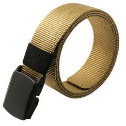 Wholesale Wholesale Canvas Belt Strapping - Wholesale- New Mens Leisure Nylon Strap Buckle Hypoallergenic Waist Belts Canvas Belts CY