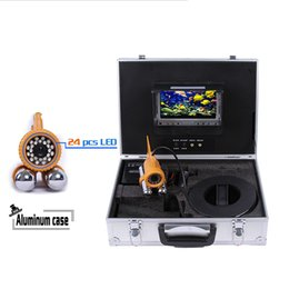 "Wholesale Cable Camera Ccd Color - 7"" Color LCD Monitor Fish Finder System 800tvl CCD Waterproof Camera Fishing 20 30 50m Cable Underwater Fishing Camera with Carry Case"