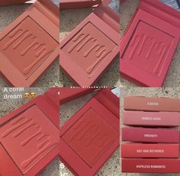 Wholesale Natural Rate - NEW Hot Makeup Kylie Matte Pressed Powder Blush 5 Colors X Rated Barely Legal Virginity Hot and Bothered Hopeless Romantic
