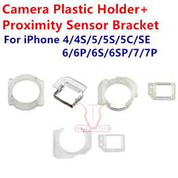 Wholesale Iphone 4s Lcd Screens - For iPhone 4 4S 5 5C 5S SE 6 6S 7 Plus Front Camera Plastic Holder Clip Ring Proximity Light Sensor Bracket Holder