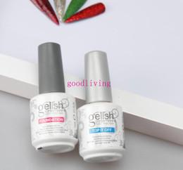 Wholesale Nail Art Set Bottle - Fedex High quality Harmony gelish polish LED UV nail art gel TOP it off and Foundation 108 bottles lot frence nails Top coat Base coat set