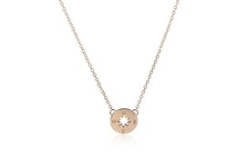 Wholesale Vintage Stereos - Wholesale-2016 Korean Unique Accessories Gold Plated Simple Round Fashion Jewelry Vintage Stereo Compass Pendant Necklace for Women