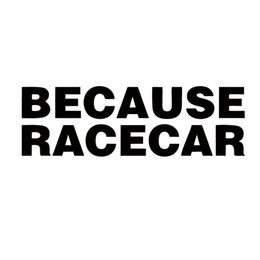 Pegatina bajada online-Nuevo producto para Because Racecar V1 Vinyl Decal Jdm Sticker Lowered Fck Stance Drift Car Styling Accesorios de ventana Decoración