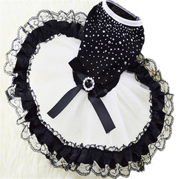 Wholesale New Sale Dresses Wedding - The New Spring And Summer Dress Pet Dog Clothes Black Diamond Skirt Spot Sales Is In Common Use The Princess