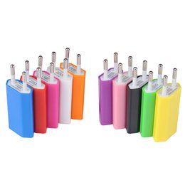 Wholesale Usb Charger Micro Ac Eu - 5V 1000mA Colorful EU US Plug Charger USB Wall Charger Plug AC Micro USB Power Adapter For Samsung Android Phone Adaptador USB
