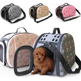 supporti pieghevoli di gatto Sconti 2017 Pieghevole Dog Carrier Bag Mayitr Pet Puppy Cat Tote Carry Cage Bag Casse Kennel