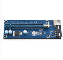 Wholesale E Ci - CI-E Express Extender Riser Card Adapter 1X to 16X w 6 Pin Power Cable USB 3.0 Ports Cables Ver006 60cm