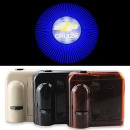 Wholesale Chevrolet Led Door Lights - 2X for Chevrolet cruze Car Door Lights LOGO Ghost Shadow Warming LED Welcome Lamps Universal Wireless