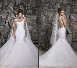alto colarinho designer vestidos de noiva Desconto 2019 Plus Size Berta Lace Sereia Vestidos de Noiva Ilusão de Volta Capela Trem Vestidos Árabes Vestidos De Casamento Nupcial Para o País Barato