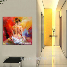 Wholesale Cheap Wall Art Decor - Christmas Gifts 100% Hand Painted Nude Girl Oil Paintings On Canvas Art Cheap Hand Painted Paintings Art Wall Decor No Framed