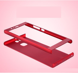 Wholesale Cases For Huawei Ascend - For Huawei Ascend P8 P8 LITE P9 LITE P9 PLUS P10 P10 PLUS 360 Degree Full Coverage Tempered Glass Hybrid Protective Cover Case 50P
