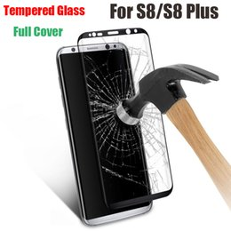 Wholesale Wholesale Glass Packaging - Case Friendly For Samsung Note 8 S7 edge S8 Plus 3D Curved Tempered Glass Cover Full Surface Screen Protector Film With Package