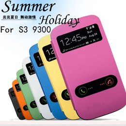 Wholesale Galaxy S3 Silicone Flip - For Galaxy S3 Wallet Flip Leather Case Cover With Pouch Card Slot For Samsung III i9300