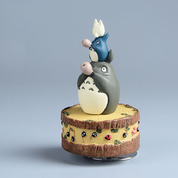 Wholesale Finish Music - Studio Ghibli My Neighbor TOTORO Resin Music Box Japanese Anime Action Figure Miyazaki Hayao TOTORO figure Kids Toys Model doll