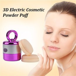 Wholesale Electric Powder Puff - electric smart puff cosmetic powder puff face powder sponge makeup puff 3D beauty massage tool high quality