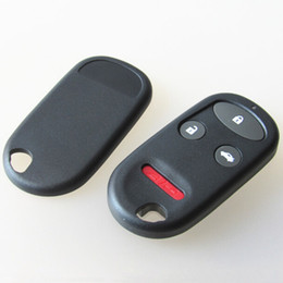 Wholesale wholesale keyless remotes - Car replacement key blank shell for Honda 3+1 button remote key fob case for honda CRV keyless shell with battery place