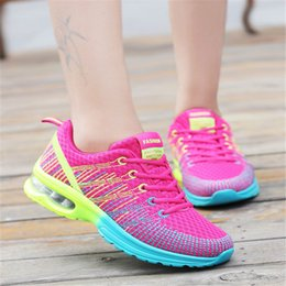 Wholesale Cheap Platforms - 2017 summer Women Breathable mesh Casual shoes Woman Flat platform shoes Air damping fashion Cheap zapatos mujer tenis feminino