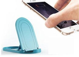 Soporte de escritorio plegable online-Para iphone Mini-ángulo Mini soporte para teléfono Soporte de escritorio universal ajustable Mesa plegable soporte de teléfono celular para su teléfono