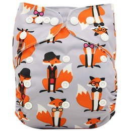 Wholesale Printing Large - Washable Diapers Couches Lavables Adjustable Baby Diaper Cover Wrap Print Baby Nappy Changing Reusable Baby Cloth Diapers