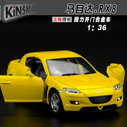 Wholesale Mazda Sports Car - 1:36 Scale Diecast Alloy Metal Sports Car Model For MAZDA RX-8 Collection Model Pull Back Toys Car - Yellow  Black   Silver   Red