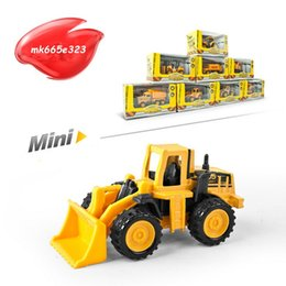 Wholesale Mini Diecast Models - Diecast Metal Plastic Mini Construction Vehicle Engineering Car Artificial Dump Truck Model Toy (Pack of 8)