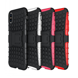 Wholesale Iphone Cases Wholesale Store - For iphone x 8G Heavy Duty Rugged Dual Layer Case with kickstand case 8 colors on store