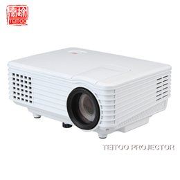 Wholesale Hdmi Equipment - Wholesale-2000Lumens Wall Projection Data Show Mini LED Projector Project Professional Equipment Mobile Laptop PC Kidding Perfect Beam
