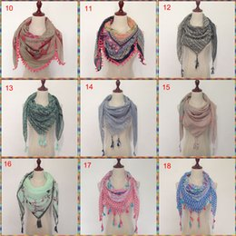 Wholesale Neon Scarfs - wholesale 2017 new fashion hot sale Really nice good quality SQUARE tassel neon color Spring Summer lady scarf hijab