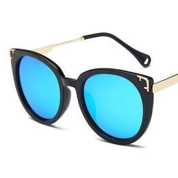 Wholesale Street Frame - women fashion Summer Polarized sunglasses Grade cat eye catapult round female sunglasses wholesale fashion trend ladies Shopping street sung