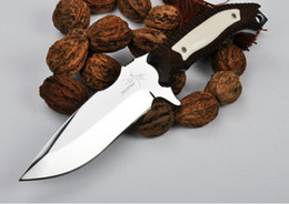 Wholesale Super Defense - Classic mantis. TL super mirror knife light straight knife tools self-defense outdoor EDC Hiking Tactical Combat Hunting 1pcs free shipping