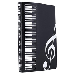 Wholesale Plastic Document Holders - Music Sheet File Paper Documents Storage Folder Holder Plastic A4 Size 40 Pockets -Black