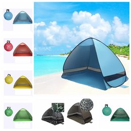 Wholesale Pink Shades Wholesale - Automatic Open Tents Family Camping Tents Anti-UV Fully Sun Shade Hiking Camping Family Tents For 2 Person Beach Tent KKA1904