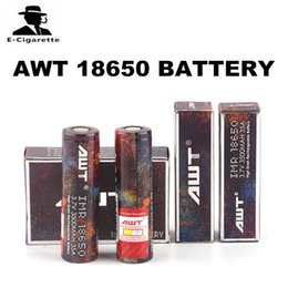 Wholesale Rechargeable Flashlights - Hot Selling AWT 18650 Battery Clone 3500mAh Rechargeable Battery 35A Work for E-cigarettes Mod and Flashlight 0204204