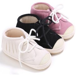 Wholesale Cheap Wholesale Shoes Free Shipping - Cheap kids tassel shoes new lace baby spring & autumn casual shoes 0 - 18 months BB fashion soft soled shoes free shipping 10pair B3