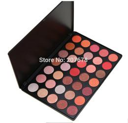 Wholesale Eye Color Professional Kit - Professional 35 Color Glitter Eyeshadow Palette Silky Powder Make up Pallete Cosmetics Smoky Warm Eye shadow Kit free shipping