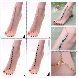 Wholesale Gold Bracelets For Boys - Foot Jewelry Anklets Hot Sale Gold Anklet Link Chain For Women Girl Foot Bracelets Fashion Jewelry Wholesale HYFX1041