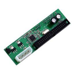 Wholesale Adapter 15 - Wholesale- 1Pcs SATA TO PATA IDE Converter Adapter Plug&Play 7+15 Pin 3.5 2.5 SATA HDD DVD DropShipping