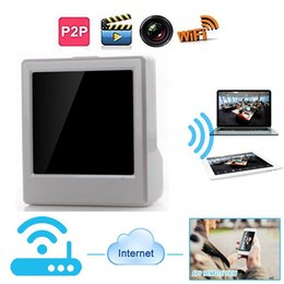 Wholesale Ipad Products - 16GB memory built-in 1080P Wifi Table Clock IP hidden Camera for iPhone, iPad, Android phone and other Computer products Spy Camera PQ270