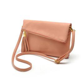 Wholesale Fold Over Purse - Wholesale-Famous Brand Design Small Fold Over Bag Mini Women Messenger bags Leather Crossbody Sling Shoulder bags Handbags Purses Zipper