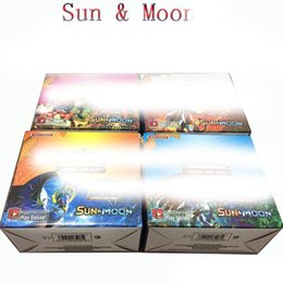 Wholesale Anime Toys - 2017 324pcs lot Poke Monsters SUN&MOON Cards Games 4 Styles Anime Pocket Monsters Cards Toys Children Card Toys