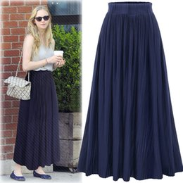 Wholesale Winter Clothes Fashion Show - 2017New Arrival Cotton free Custom 2017 Spring New Pleated of Tall Waist Women's Clothing Joker Skirts Show Thin Pure Color of The