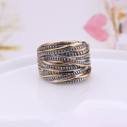Wholesale Unique Wedding Bands - 2017 New Women 925 Jewelry Retro Sterling Rings For Woman Unique Thailand Compatible With Pandora 925 Jewelry Jewelry