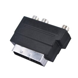 Wholesale Rgb Rca Adapter - 2016 New Arrival Hot Selling RGB Scart to Composite RCA S-Video AV TV Audio Adapter Brand New Wholesale